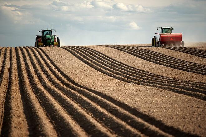 número de fazendas nos Estados Unidos