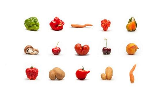 mercado de vegetais fora do padrão