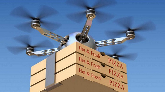 entrega de comida por drone